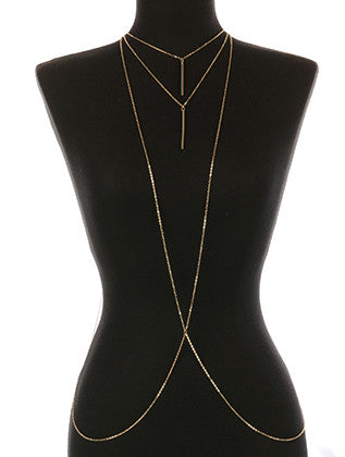 MULT LAYER METAL NECKLACE AND BODY CHAIN - Sona Starz