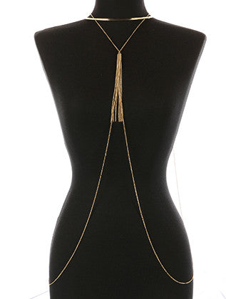 METAL CHAIN FRINGE NECKLACE AND BODY CHAIN - Sona Starz