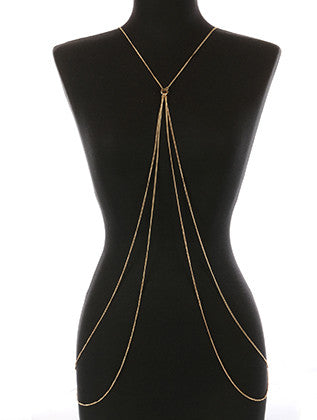 TOGGLE CLOSURE NECKLACE AND BODY CHAIN - Sona Starz