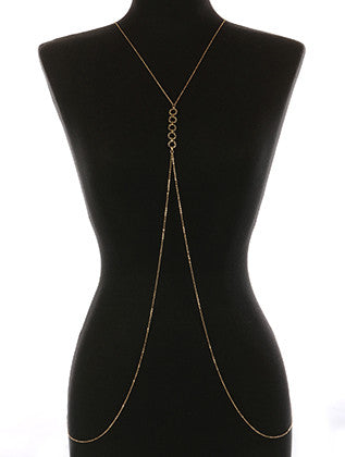 METAL RING NECKLACE AND BODY CHAIN - Sona Starz