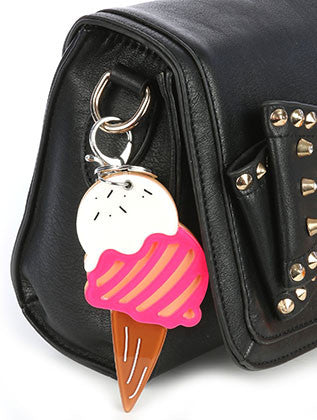 ICE CREAM CONE ACRYLIC BAG ACCESSORY KEY CHAIN - Sona Starz