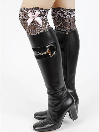 TWO TONE LACE BOOT TOPPER LEG WARMER - Sona Starz