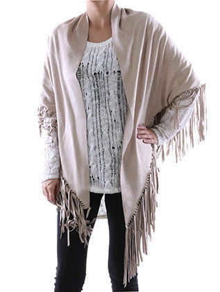 TRIANGULAR SUEDE FEEL SHAWL SCARF - Sona Starz