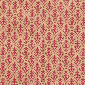 Victorian Red On Gold Wallpaper