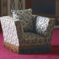 Armchair Cream And Blue