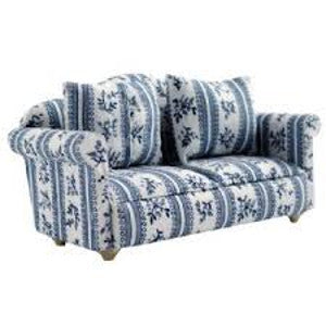 Blue Patterned Sofa