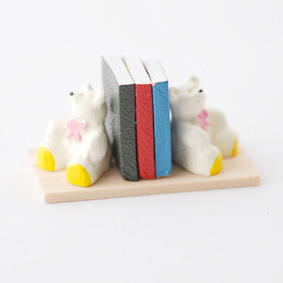 Teddy Bookends With Books