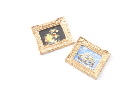 Pack of 2 Rectangular Gilt Framed Pictures