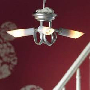 Modern 'Silver' Triple Ceiling Light