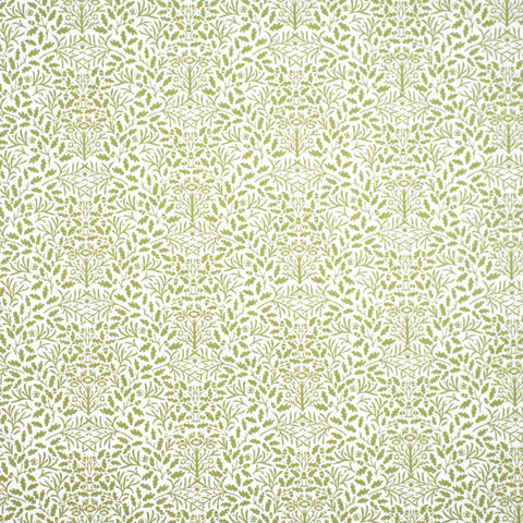 Acorns Green On White Wallpaper