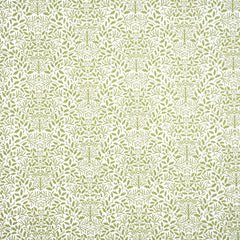 William Morris Green On White Wallpaper