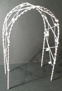 White Wire Rose Arch
