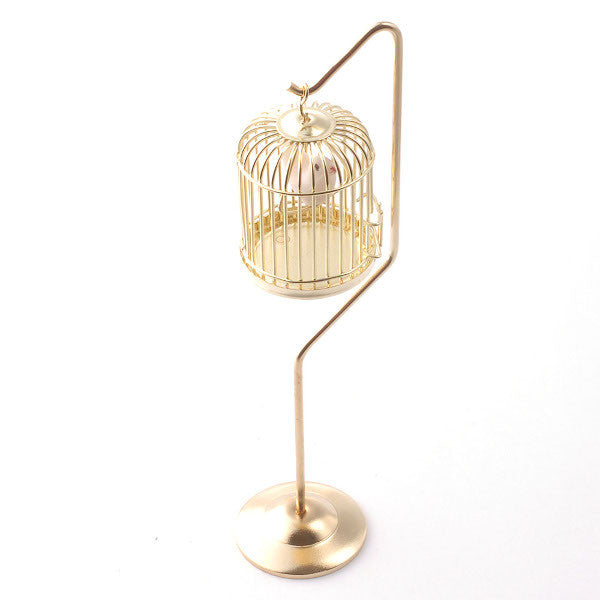 Gold Birdcage On A Stand