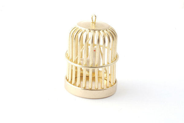 Gold Birdcage With Bird