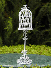 White Wire Birdcage