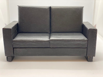 Black 2 Seater Couch