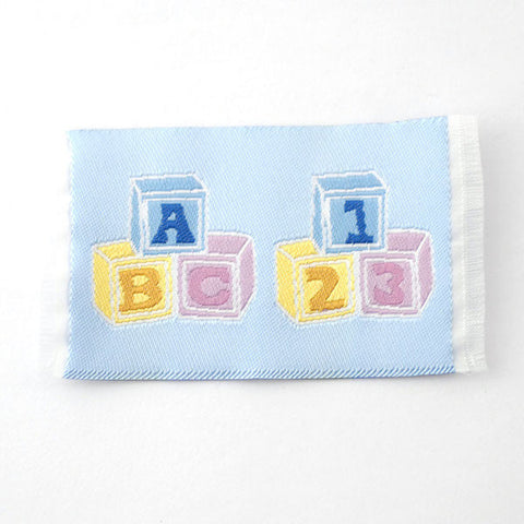 Baby Blocks Rug Blue