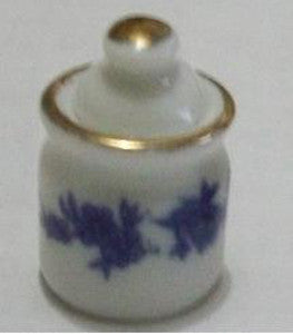 Blue China Jar