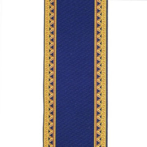 Blue And Gold Stair Carpet