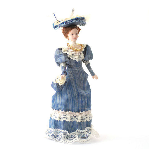 Porcelain Lady Bella In Blue