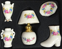 Ornament Set Pink Floral