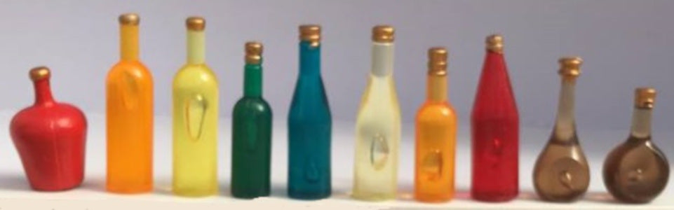 Coloured Bottles 10pcs