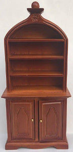 Shelf Unit Domed Top And Detail Brown