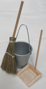 Broom, Bucket And Dustpan