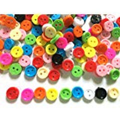 Tiny Buttons Brown 4mm