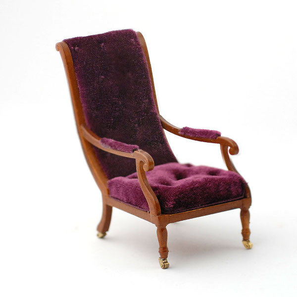 William IV Library Chair With Casters