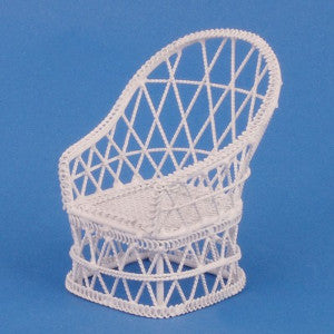 White Wire Tub Chair