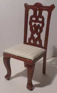 Dining Chair With A Cream Satin Seat
