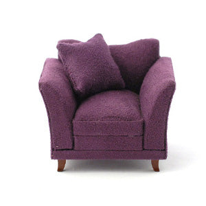 Armchair soft Plum