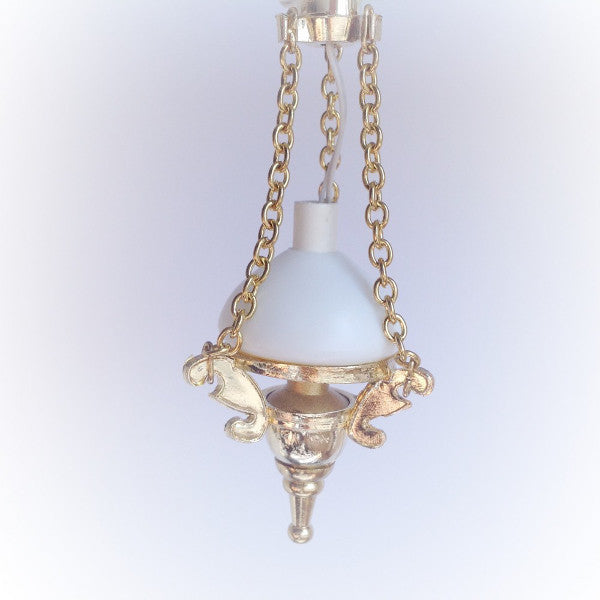 Carriage Light With Gold Chains