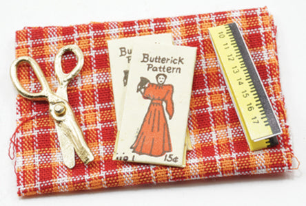 Fabric, Measuring Tape, Pattern,Scissors