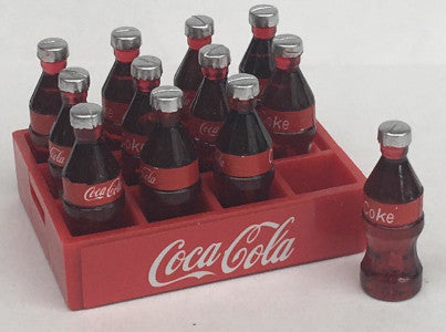 Crate Of Coca Cola With Removeable Bottles