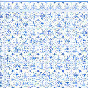 Compact Dutch Tile Wallpaper