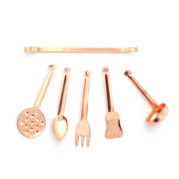 Copper Wall Hanger And Utensils
