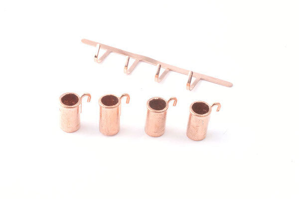 Copper Mugs On Rack