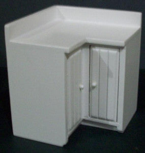 White Kitchen Corner Unit