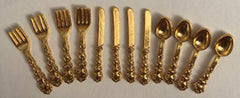 Fancy Gold Cutlery set for 4