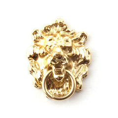 Polished Lion Head Door Knocker