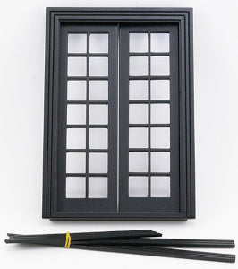 Double French Door Black