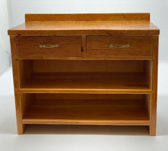 2 Drawer Open Unit Teak