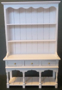 Slender White Kitchen Dresser