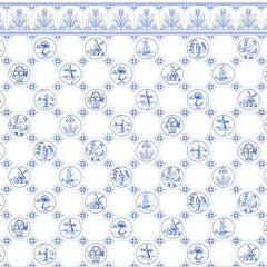 Blue Dutch Tile Wallpaper