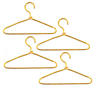 Gold Wire hangers 4 Pc