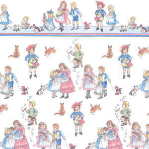 Children's Design Wallpaper White