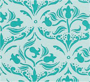 Tulip Arabesque Torquoise Wallpaper