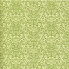 William Morris Green On Cream